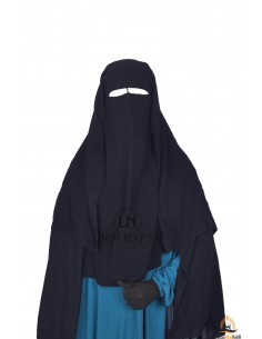 Three Layer Flap Niqab 1m25 Umm Hafsa - Grey
