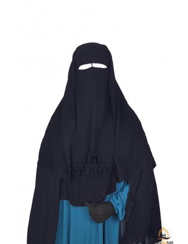 Niqab/Sitar 3 voiles Umm Hafsa 1m25 - Gris