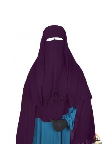 Niqab 3 Segel Umm Hafsa 1m25 - Pflaume