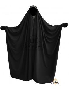 OPEN V NECK Big Jilbab 1pc Brown Umm Hafsa - Black
