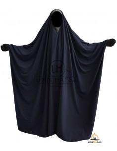Big saudischer Jilbab Umm Hafsa V-Ausschnitt - Blau