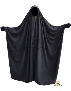 OPEN V NECK Big Jilbab 1pc Brown Umm Hafsa - Grey