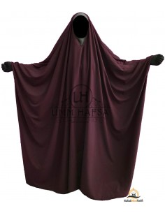 OPEN V NECK Big Jilbab 1pc Brown Umm Hafsa - Purple