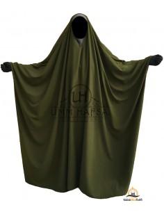 OPEN V NECK Big Jilbab 1pc Brown Umm Hafsa - Green