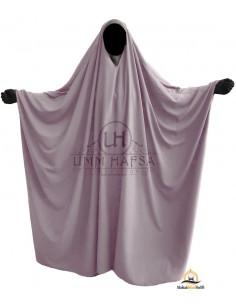 Big Jilbab Saoudien Umm Hafsa Col V - Taupe