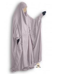 "Jilbab à zip ""jupe"" Umm Hafsa - Taupe"