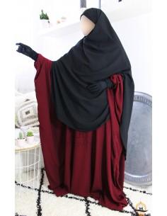 Khimar/Hijab Hafsa de Umm Hafsa - Noir