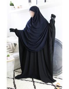 Khimar/Hijab Hafsa de Umm Hafsa - Bleu