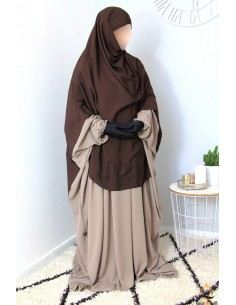 Hijab Hafsa von Umm Hafsa – Braun