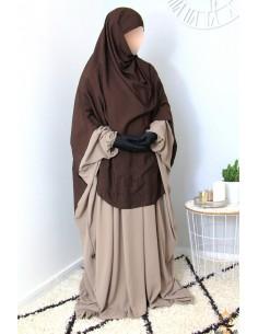 Khimar/Hijab Hafsa de Umm Hafsa - Marron