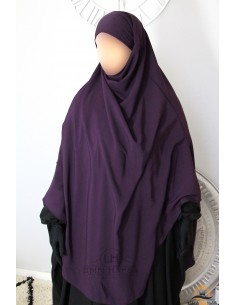 Khimar/Hijab Hafsa de Umm Hafsa - Aubergine