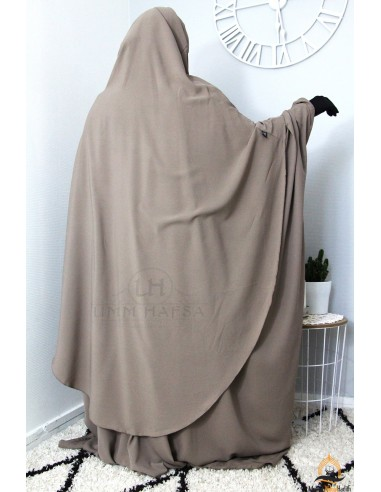 Hijab Hafsa von Umm Hafsa – Taupe