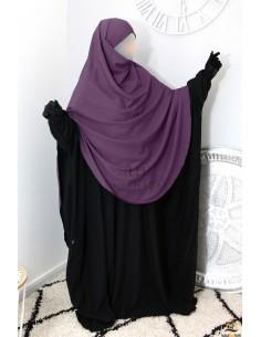 Khimar/Hijab Hafsa de Umm Hafsa - Prune