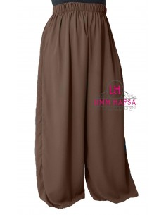 Hosen breit Hafsa von Umm Hafsa – Braun