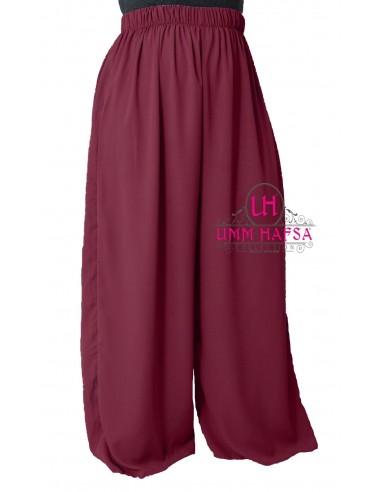 Pants Hafsa from Umm Hafsa – Burgundy