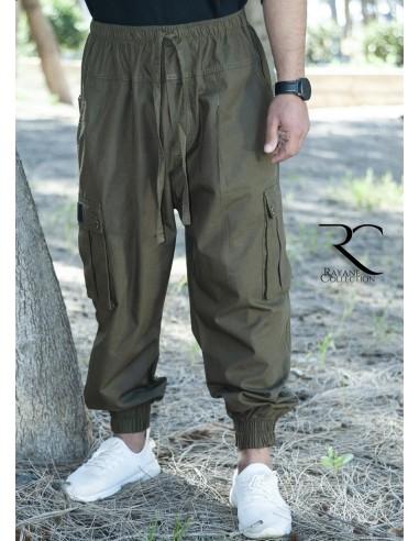 Sarouel Pantalon Cargo Rayane - Kaki