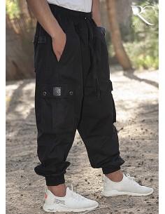 Sarouel Pantalon Cargo Rayane - Noir