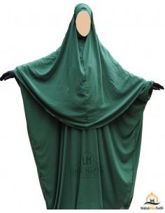 Ensemble Abaya/hijab Cape Umm Hafsa - Vert Sapin