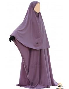 Ensemble Abaya/hijab Cape Umm Hafsa - Vieux Rose