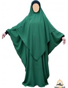 Abaya /Hijab Lycra Umm Hafsa - Grüne Tannenfarbe