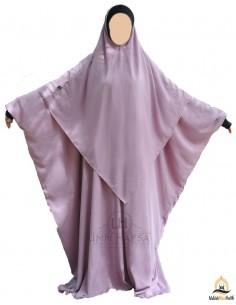Abaya /Hijab Lycra Umm Hafsa - Old Pink