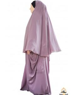 Ensemble Abaya/hijab Maryam Umm Hafsa – Vieux Rose