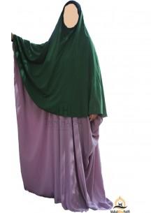 Hijab / Khimar Maryam Umm Hafsa - Grüne Tannenfarbe
