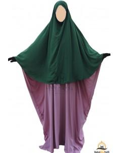 Hijab / khimar Cape Umm Hafsa - Grüne Tannenfarbe