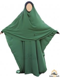 Ensemble Abaya/hijab Maryam Umm Hafsa – Vert Sapin