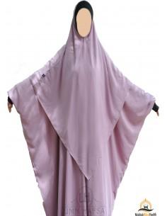 Hijab / Khimar Lycra Umm Hafsa - Vieux Rose