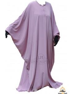 Abaya papillon Umm Hafsa - Vieux Rose