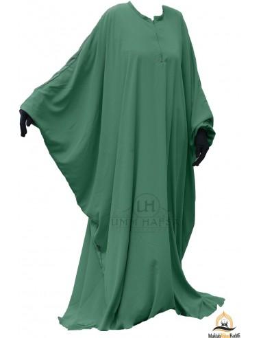 Abaya papillon Umm Hafsa - Vert Sapin