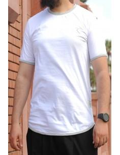 Übergroßes Rayane-T-Shirt aus 100% Baumwolle – weiß