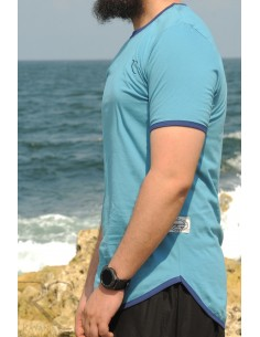 Übergroßes Rayane-T-Shirt aus 100% Baumwolle – königsblau