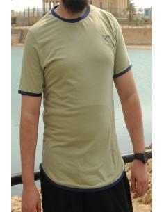 Übergroßes Rayane-T-Shirt aus 100% Baumwolle – Khaki