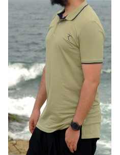 Oversized polo shirt 100% cotton Rayane - Green