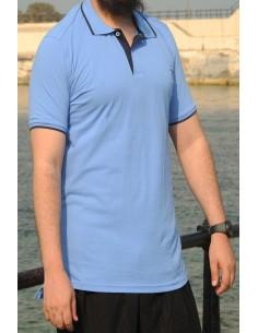 Polo oversize 100% coton Rayane – Bleu roi