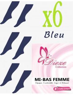 MI-BAS Dieze Opaque - lot de 6 Bleu