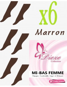MI-BAS Dieze Opaque - lot de 6 Marron