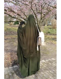 "Big jilbab deux pièces ""JUPE"" umm hafsa – Kaki"
