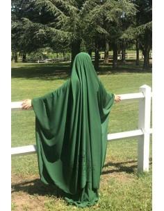 """Big jilbab two piece """"SKIRT"""" umm hafsa – Fir Green"""