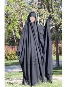 Big jilbab Saudi Umm Hafsa - Grau