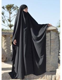 Big jilbab Saoudien Umm Hafsa - Noir
