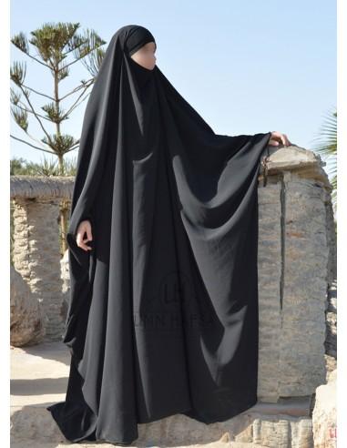 Big jilbab Umm Hafsa - Noir