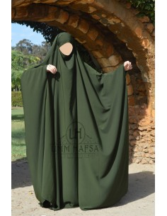 Big jilbab Umm Hafsa - Green