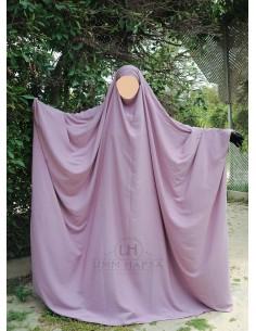 Big jilbab Saoudien Umm Hafsa - Vieux Rose