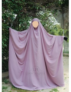 Big jilbab Saudi Umm Hafsa - Alte Rosafarbene