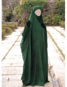 Big jilbab Saudi Umm Hafsa - Fir Green