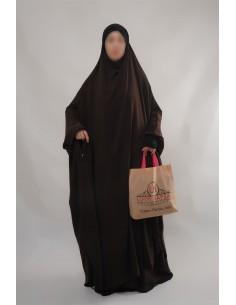 """Jilbab Hafsa 2 pieces """"jupe"""" Umm Hafsa – Marron"""