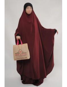 """Jilbab Hafsa 2 pieces """"jupe"""" Umm Hafsa – Bordeaux"""
